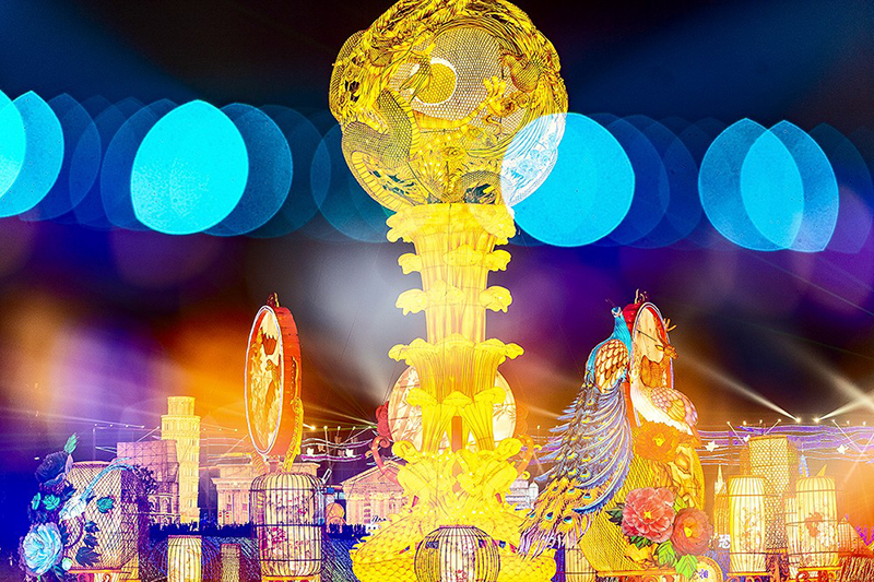 The 26th Zigong International Dinosaur Lantern Festival re-opened