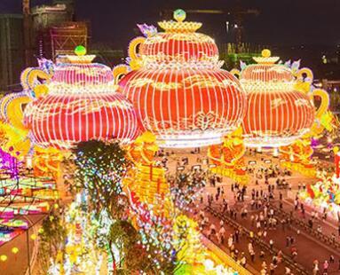 The 26th Zigong International Dinosaur Lantern Festival re-opened