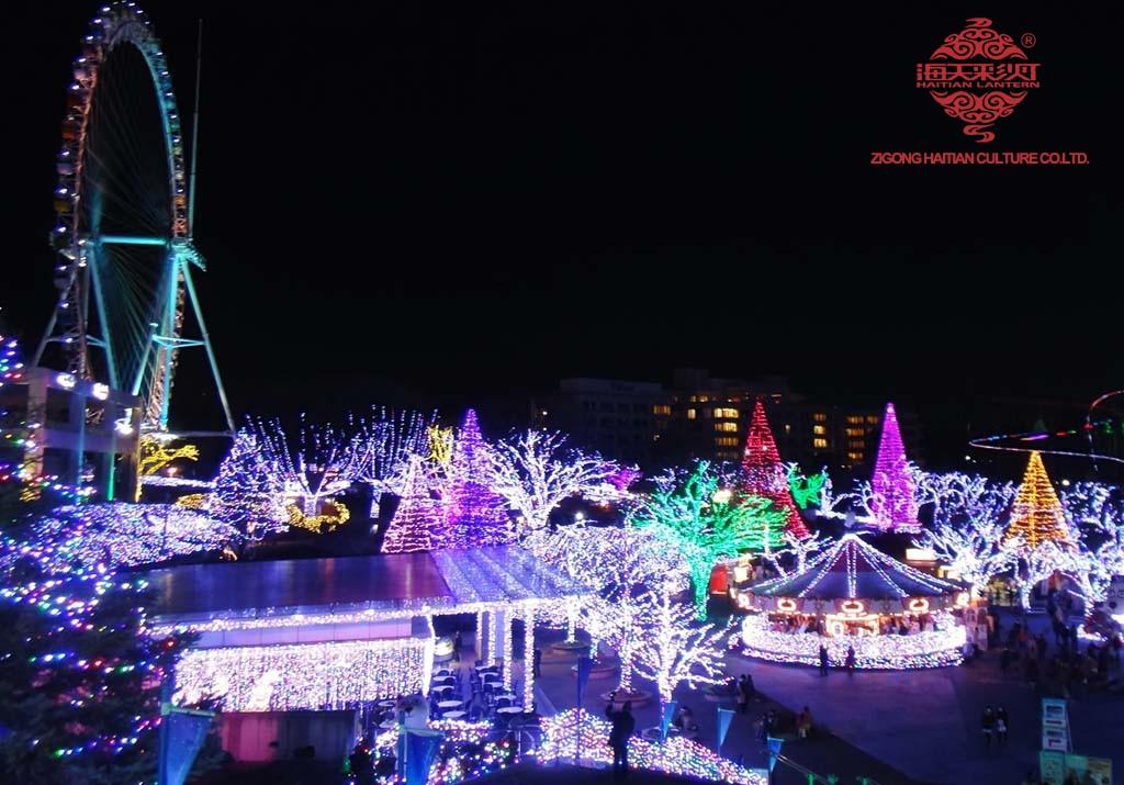 Lentera Ngunggahake Taman ing Off-Season ing Jepang