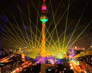 Preparing the 14th festival of lights 2018 in Berlin